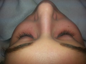 before lashes